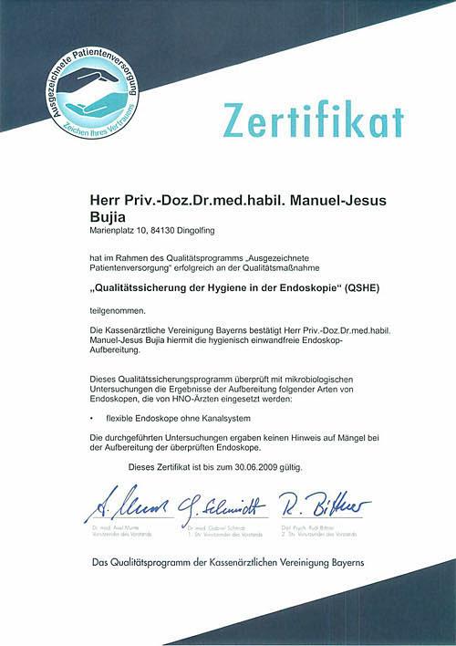 Hygiene in der Endoskopie - HNO-Facharztpraxis am Marienplatz in 84130 Dingolfing