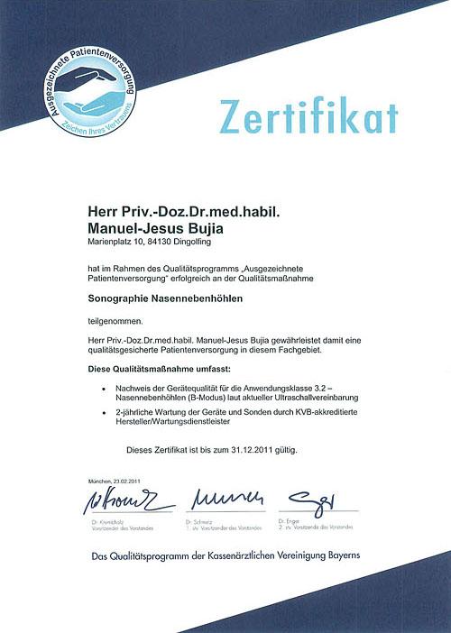 Sonographie Nasennebenhöhlen - HNO-Facharztpraxis am Marienplatz in 84130 Dingolfing